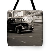 Hot Rod On The Street Tote Bag