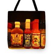 Hot Sauce Display Shelf Three Tote Bag