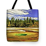 Prismatic Geyser Yellowstone National Park Tote Bag