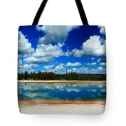 Hot Springs And Clouds Tote Bag