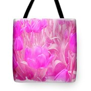 Hot Stuff   In Your Face Pink Tulips Tote Bag