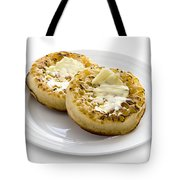 Hot Toasted Crumpets With Butter Tote Bag