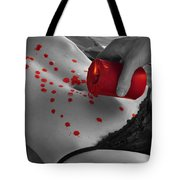 Hot Wax From Candle Dripping On Woman Body Tote Bag