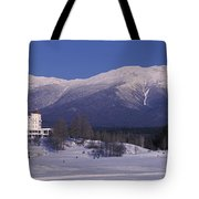 Hotel Near Snow Covered Mountains, Mt Tote Bag