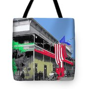 Hotel  Orndorff Colored American Flags Tucson Arizona Circa 1915-2012 Tote Bag