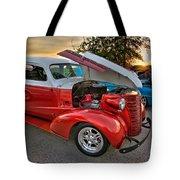 Hotrod Sunset Tote Bag