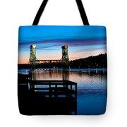 Houghton Bridge Sunset Tote Bag