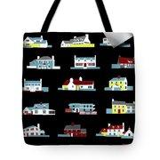 House & Garden Cover Illustration Of 18 Houses Tote Bag
