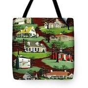 House & Garden Cover Illustration Of 9 Houses Tote Bag