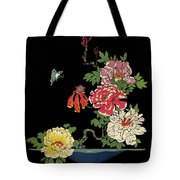 House & Garden Cover Illustration Of Peonies Tote Bag