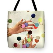House & Garden Cover Of Woman's Hands With An Tote Bag