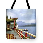 House & Garden Cover Of Women Sitting On The Deck Tote Bag