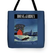 House And Garden Christmas Decoration Cover Tote Bag