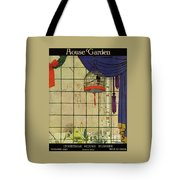 House And Garden Christmas House Number Cover Tote Bag