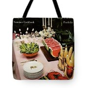House And Garden Cover Featuring A Buffet Table Tote Bag