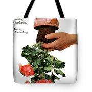House And Garden Cover Featuring A Person Tote Bag