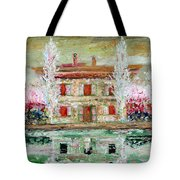 House And River Tote Bag