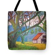 House And Trees Tote Bag
