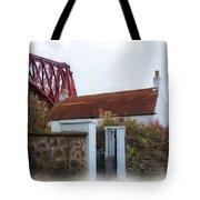 House At The Bridge Tote Bag
