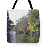 House Boat On River Avon Tote Bag