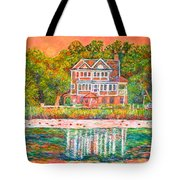 House By The Tidal Creek At Pawleys Island Tote Bag