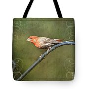 House Finch On Guard II Tote Bag
