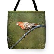 House Finch On Guard IIi Tote Bag