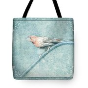 House Finch With Colored Sketch Effect Tote Bag