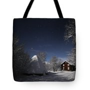 House In Moonlight Tote Bag
