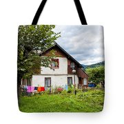 House In The Capathians Village Tote Bag