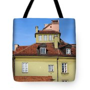 House In The Old Town Of Warsaw Tote Bag by Artur Bogacki