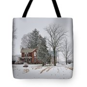 House In Winter Tote Bag