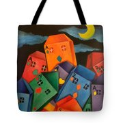 House Of Cards Tote Bag by Lisa Bentley