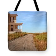 House On Rural Dirt Road Tote Bag