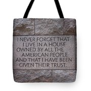 House Owned By The People Tote Bag
