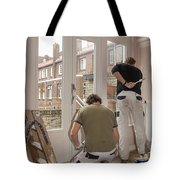 House Painters At Work Tote Bag