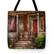 House - Porch - Belvidere Nj - A Classic American Home  Tote Bag