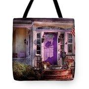 House - Porch - Cranford Nj - Lovely In Lavender  Tote Bag