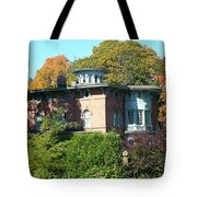 House Surrounded By Autumn Tote Bag