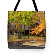 House Surrounded With Colors Tote Bag