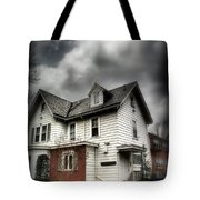 House With Brick Front - American Gothic Tote Bag