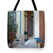 House With Griffin Lafayette Square St Louis Tote Bag