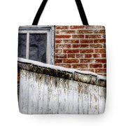 House With Shed 13122 Tote Bag