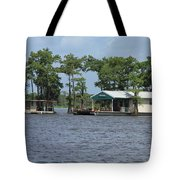 Houseboat - Atchafalaya Basin Tote Bag