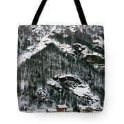 Houses In A Village In Winter, Tasch Tote Bag