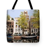 Houses In Amsterdam Tote Bag