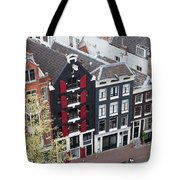Houses In Amsterdam From Above Tote Bag