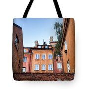 Houses In The Old Town Of Warsaw Tote Bag