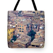 Houses Of Old City Of Siena - Tuscany - Italy - Europe Tote Bag