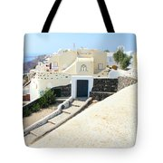 Houses Oia Santorini Tote Bag
